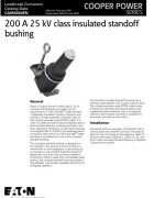 CA650004EN 200 A 25 kV Class Insulated Standoff Bushing