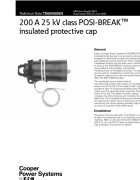 TD650002EN 200 A 25 kV Class POSI-BREAK Insulated Protective Cap