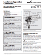 200A 35kV Loadbreak Elbow Installation Instructions_S500411