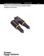 S500-14-1 200 A 15, 25, and 35 kV Class Portable Feedthru Instal