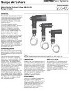 235-65 Metal Oxide Varistor Elbow (M.O.V.E.) Surge Arrester