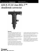 TD650025EN 600 A 35 kV Class BOL-T Deadbreak Connector