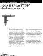 TD650026EN 600 A 35 kV Class BT-TAP Deadbreak Connector