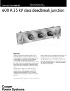 600-62 600 A 35 kV Class Deadbreak Junction