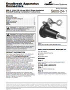 600A 35kV Insulated Standoff Bushing Installation Instructions_S600241