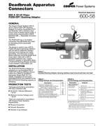 600-58 600 A 35 kV Class PUSH-OP Bushing Adapter