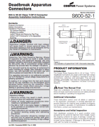 600A 35kV T-OP II Deadbreak Connector Installation Instruction_S600521